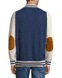 Mostly Heard Rarely Seen - Blue Stripe Cotton Varsity Jacket for Men - Lyst