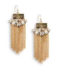 Alexis Bittar - Gray Elements Punk Labradorite & Crystal Fringe Drop Earrings - Lyst