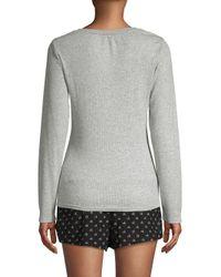Calvin Klein - Gray Two-piece Logo Pajama Set - Lyst