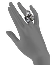 Alexis Bittar | Metallic Miss Havisham Liquid Crystal Three-stone Orbit Ring | Lyst