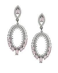 Saks Fifth Avenue - Metallic Crystal Drop Earrings - Lyst