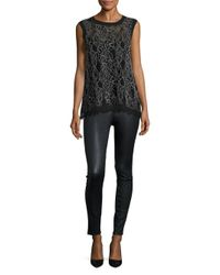 Generation Love - Black Nia Lace Tank Top - Lyst