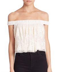 Bec & Bridge - White Lady Lace Off-the-shoulder Top - Lyst