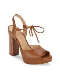 Saks Fifth Avenue - Brown Penelope Open Toe Platform Sandals - Lyst