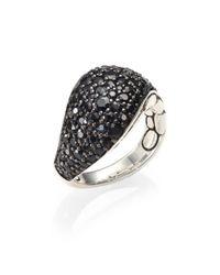 John Hardy - Kali Black Sapphire & Sterling Silver Lava Ring - Lyst