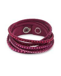 Swarovski - Pink Crystal Stud Bracelet - Lyst