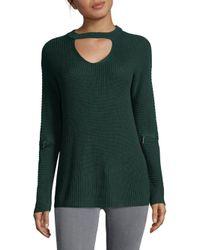 Saks Fifth Avenue - Green Modish Sweater - Lyst