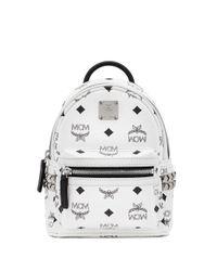 MCM - White X Bebe Boo Mini Studded Coated Canvas Backpack - Lyst
