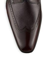 Mezlan - Blue Freeport Burgundy Wingtip Oxford Shoes for Men - Lyst