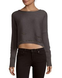 Ramy Brook - Gray Chrissy Chain Detail Sweater - Lyst