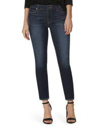 PAIGE - Blue Skyline Ankle Peg Step Hem Jeans - Lyst