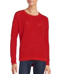 French Connection - Red Dinka Knit Sweater - Lyst