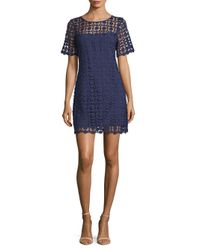 Laundry by Shelli Segal - Blue Venise Shift Dress - Lyst