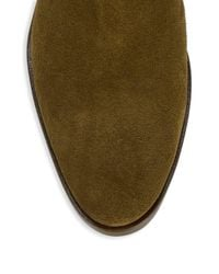 Charles David - Green Hunter Suede Block Heel Booties - Lyst