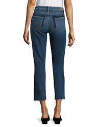 PAIGE - Blue Julia Vintage High-rise Step Hem Jeans - Lyst