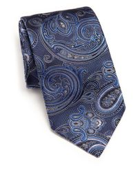 Ike Behar - Blue Medallion Paisley Silk Tie for Men - Lyst