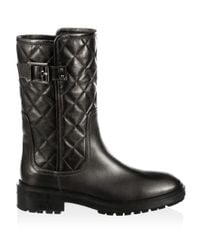 Aquatalia - Multicolor Layla Quilted Leather Boots - Lyst