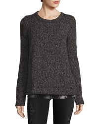 Sanctuary - Black Chunky-knit Sweater - Lyst