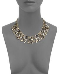 Saks Fifth Avenue - Metallic Crystal Statement Necklace - Lyst