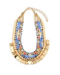 Cara - Metallic Beaded Goldtone Necklace - Lyst