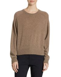 Vince - Brown Wide Saddle Cashmere Pullover - Lyst