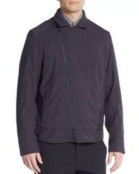 Vince Camuto - Blue Moto Jacket for Men - Lyst