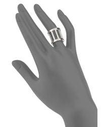 Vita Fede - Metallic Pandora Crystal Ring/silvertone for Men - Lyst