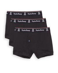 Psycho Bunny | Black Vintage Cotton Boxers, 3-pack for Men | Lyst