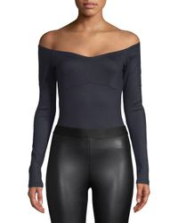 Gabriela Hearst - Blue Off-the-shoulder Bodysuit - Lyst