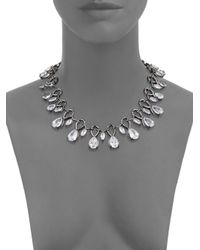 Noir Jewelry - Black Cubic Zirconia & Crystal Necklace - Lyst