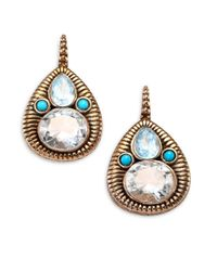 Stephen Dweck - Metallic Blue Topaz, Turquoise & Crystal Pear Drop Earrings - Lyst