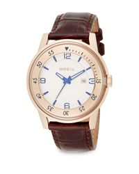 Breil - Pink Rose Goldtone Stainless Steel & Embossed Leather Watch - Lyst