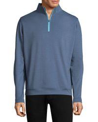 Peter Millar - Blue Half-zip Sweater for Men - Lyst