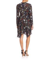 A.L.C. - Black Cynthia Fit & Flare Silk Dress - Lyst
