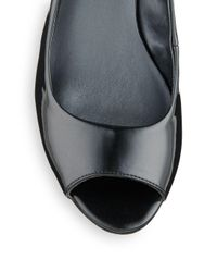 Nine West - Black Sharina Patent Peep-Toe Slingbacks - Lyst