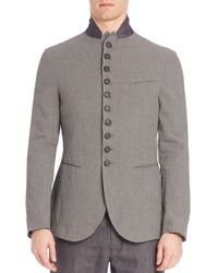 John Varvatos - Gray Slim-fit Convertible Jacket for Men - Lyst