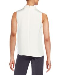 O'2nd - White Marion Asymmetrical Overlay Silk Top - Lyst