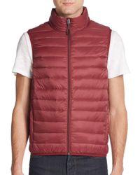 Saks Fifth Avenue - Red Packable Nylon Puffer Vest for Men - Lyst