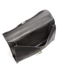 Proenza Schouler Gray Small Python Lunch Bag Clutch
