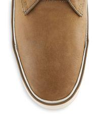 John Varvatos - Brown Leather Chukka Sneakers for Men - Lyst