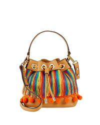 MILLY - Multicolor Pom-pom Leather Shoulder Bag - Lyst
