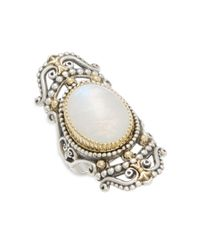 Konstantino - Metallic Erato 18k Yellow Gold & Sterling Silver Oval Ring - Lyst