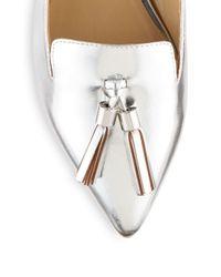 Saks Fifth Avenue - Metallic Tassel Slip-on Loafer - Lyst