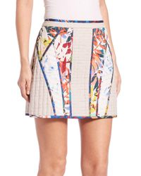 BCBGMAXAZRIA - Multicolor Andrick Quilted Patchwork Miniskirt - Lyst