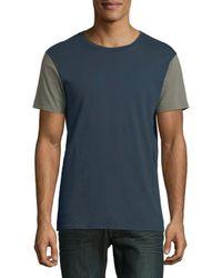 Tavik - Blue Short-sleeve Cotton Tee for Men - Lyst