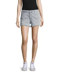Blank NYC - Gray Five-pocket Frayed Shorts - Lyst