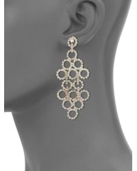 ABS By Allen Schwartz - Metallic Mixers Circle Chandelier Earrings - Lyst