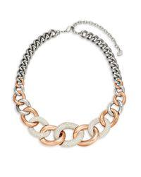 Swarovski - Metallic Crystal Choker Necklace - Lyst