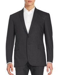 Ralph Lauren Black Label - Gray Plaid Wool Jacket for Men - Lyst