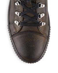 John Varvatos - Multicolor Textured Leather Sneakers for Men - Lyst